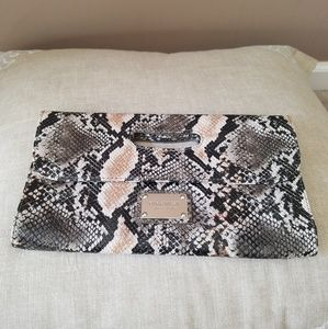 Nine West snakeskin patterned clutch purse